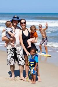 family portrait photobomb