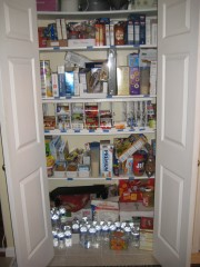 I swear I tidied this short-term pantry for the photo.