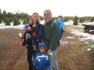 Photo: Cute family at the cute Christmas Tree Farm