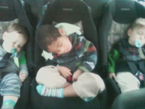 all 3 asleep in vw