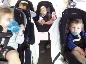 all 4 in minivan