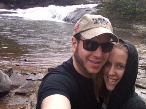 A baby-less waterfall hike in the rain with my man = perfect
