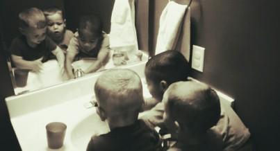 all three at sink